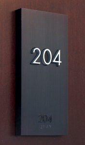 ADA Hotel Door Signage